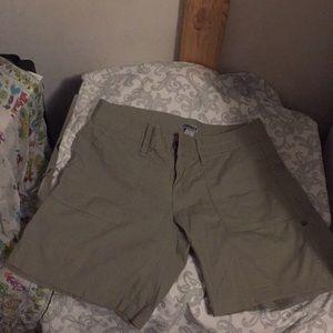 army green dkny shorts